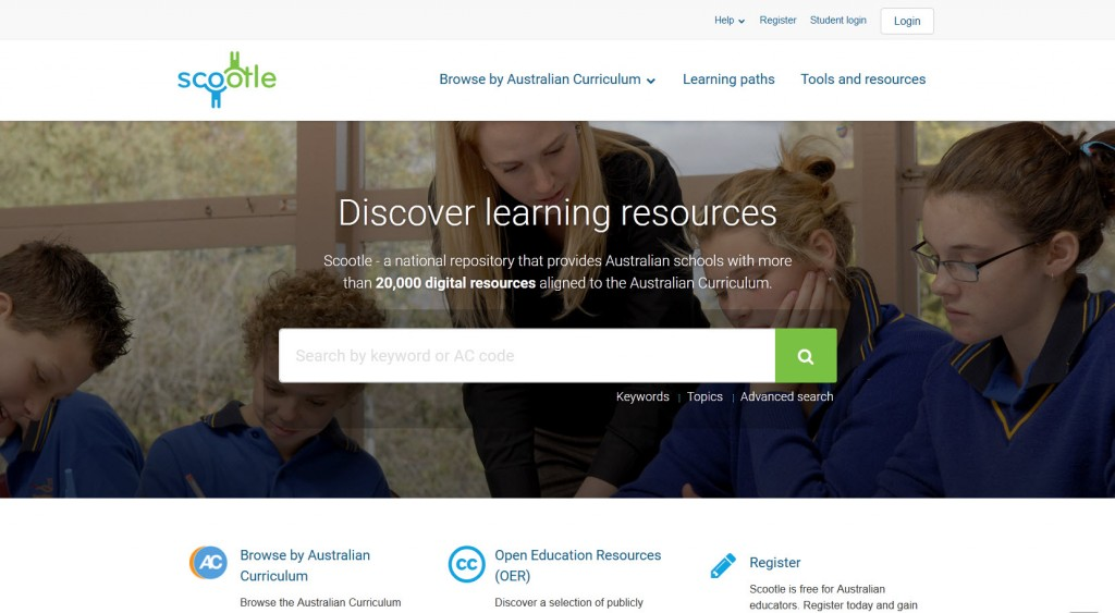 Scootle Homepage